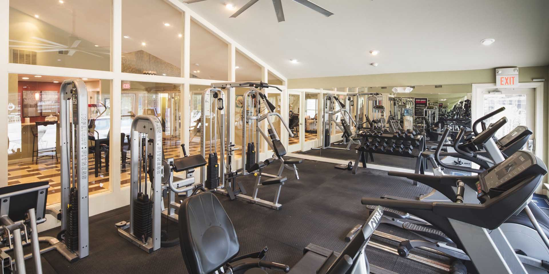 Fitness Center at Spring House Apartments